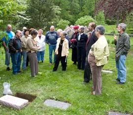 Grave side service in 2008.